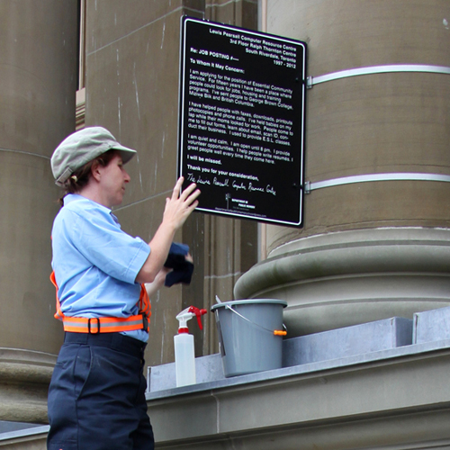 LPCRC Cleaning Sign SQ