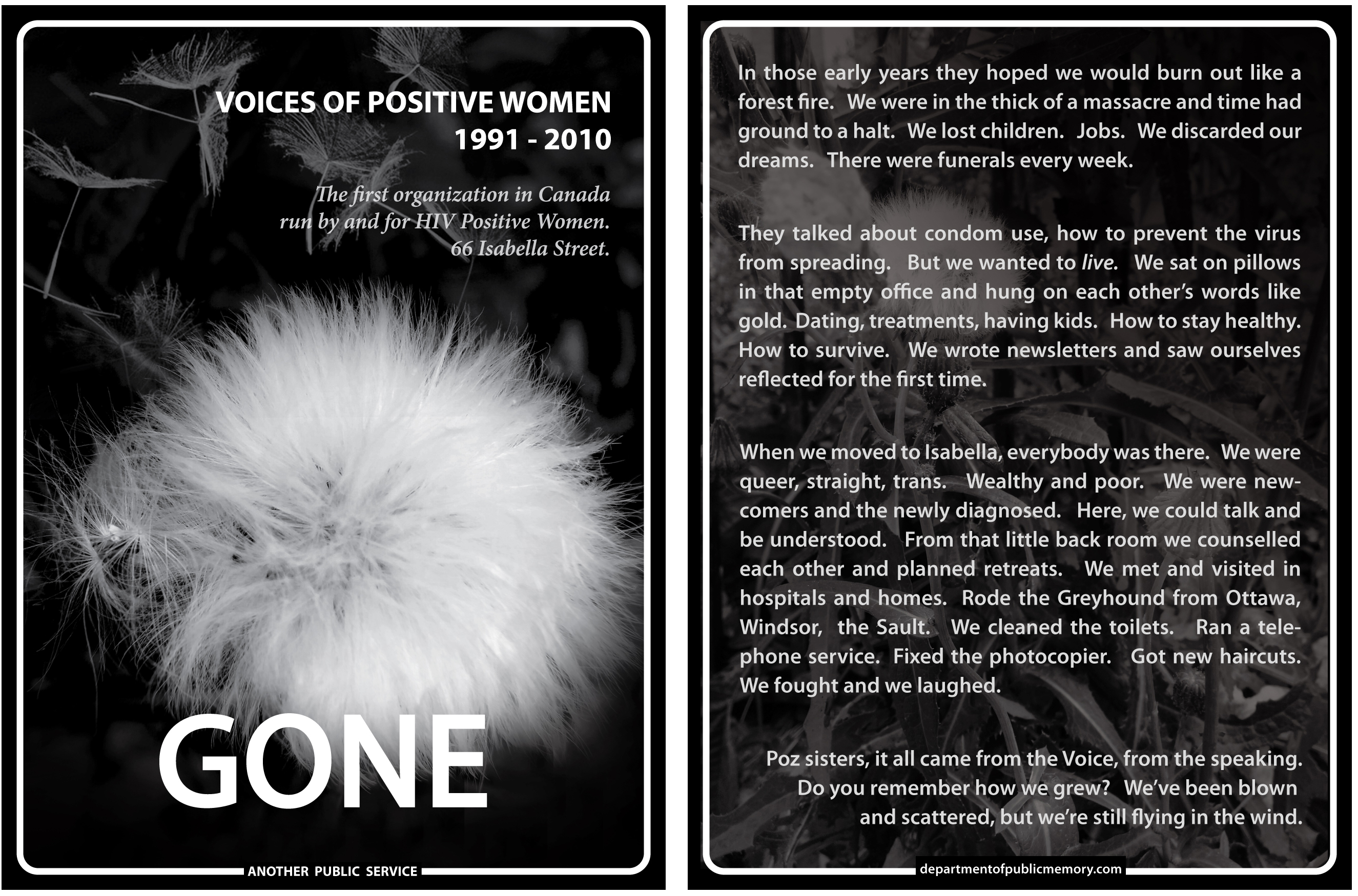 Voices Of Positive Women Sign Double